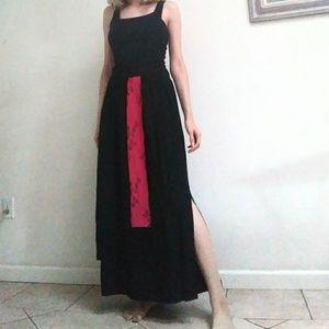 XIAO Linen Blend Black Layered Skirt